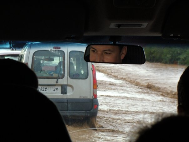 flooded road to Essaouira Morocco