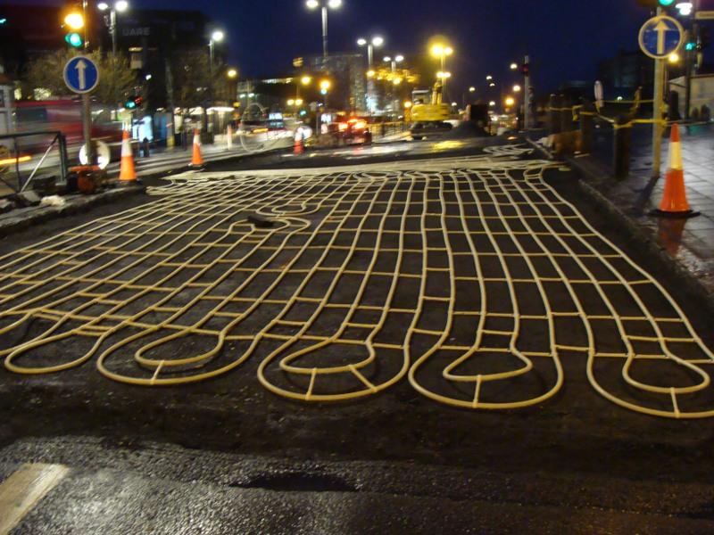 road construction Reykjavik Iceland