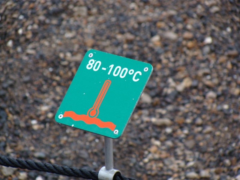 warning sign Geysir Iceland