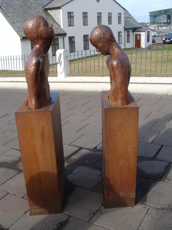 Steinunn Thorarinsdottir scuplture Reykjavik Iceland
