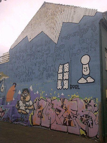 graffiti Reykjavik Iceland