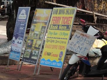 signs Serendipity Beach Sihanoukville Cambodia