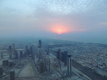 Sunset Burj Khalifa Dubai UAE