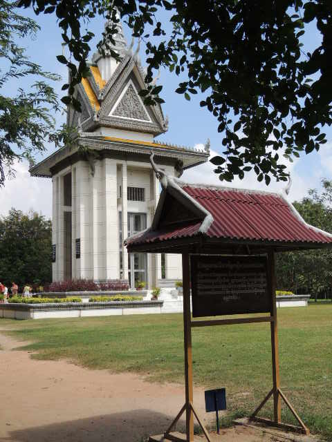 Buddhist Stupa at Choeng Ek Killing Fields Cambodia