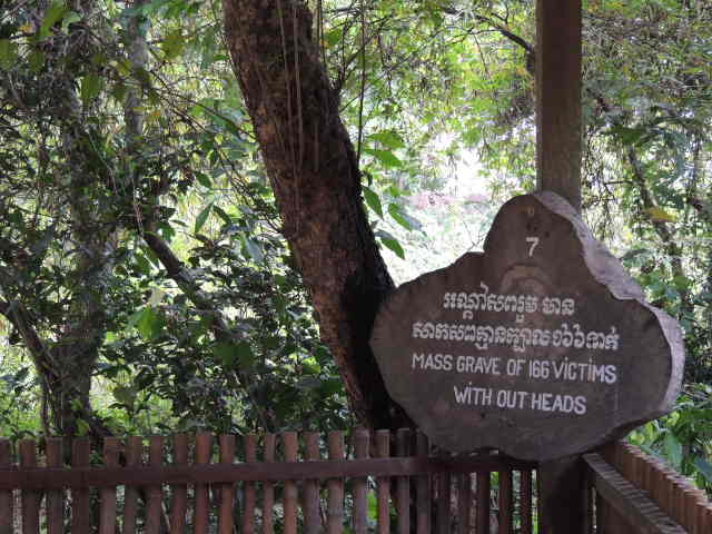 Mass grave at Choeng Ek Killing Fields Cambodia