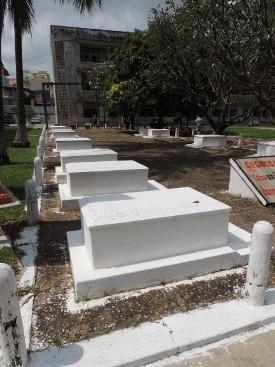 graves at Tuol Sleng Phnom Penh Cambodia