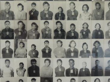 Prisoner photographs Tuol Sleng Phnom Penh Cambodia