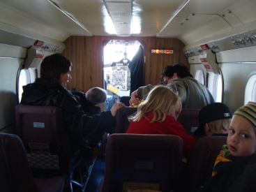 Grimsey Iceland Airplane interior