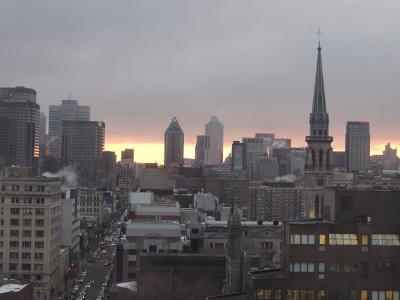 Montreal skyline Quebes
