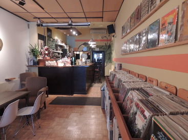 Kensington Market coffee vinyl records