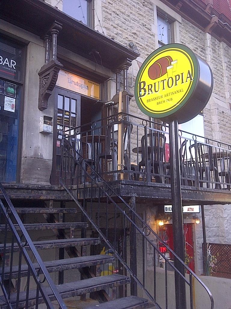 Brutopia Brewpub Montreal Quebec