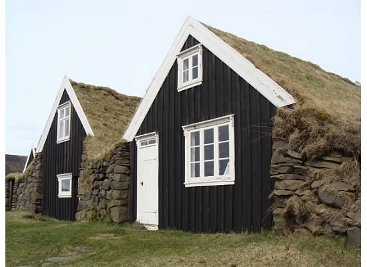 Grass Roof Houses Iceland