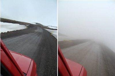 iceland ringroad fog