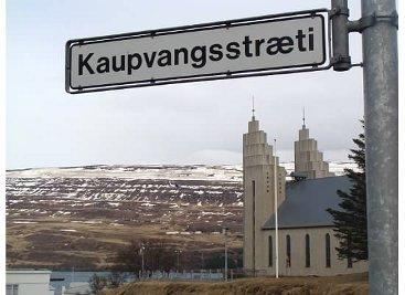 StreetSign Iceland Akureyri